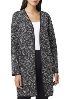 Tahari Open Metallic Tweed Topper Jacket