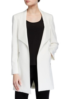 Tahari Open Zip-Pocket Topper Jacket