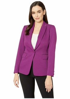 Tahari Parket Twill One-Button Jacket