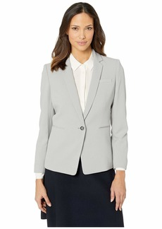 Tahari Pebble Crepe One-Button Jacket