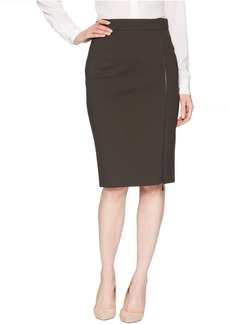 Pencil Skirt with Zipper Detail