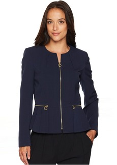 Peplum Zip Front Jacket