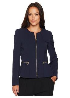 Tahari Peplum Zip Front Jacket