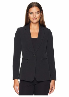 Tahari Pinstripe Bi-Stretch Jacket