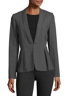 Tahari Pinstriped Pleated Jacket