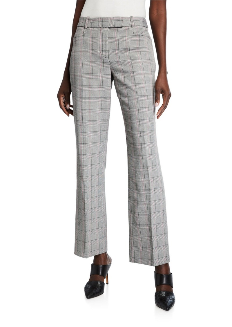 Tahari Plaid Extend-Tab Trousers
