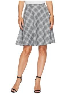Tahari Plaid Flip Skirt