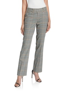 Tahari Plaid Straight-Leg Pants