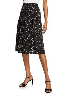 Tahari Polka Dot Pleated Skirt