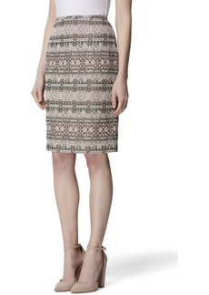Tahari Printed Pencil Skirt