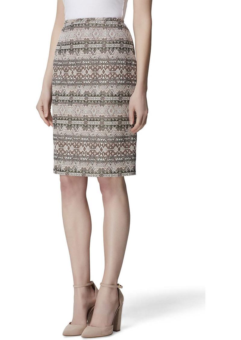 Tahari Printed Pencil Skirt