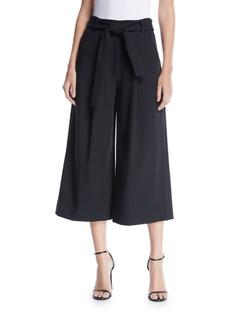 Tahari Rae Tie-Front Culottes Pants