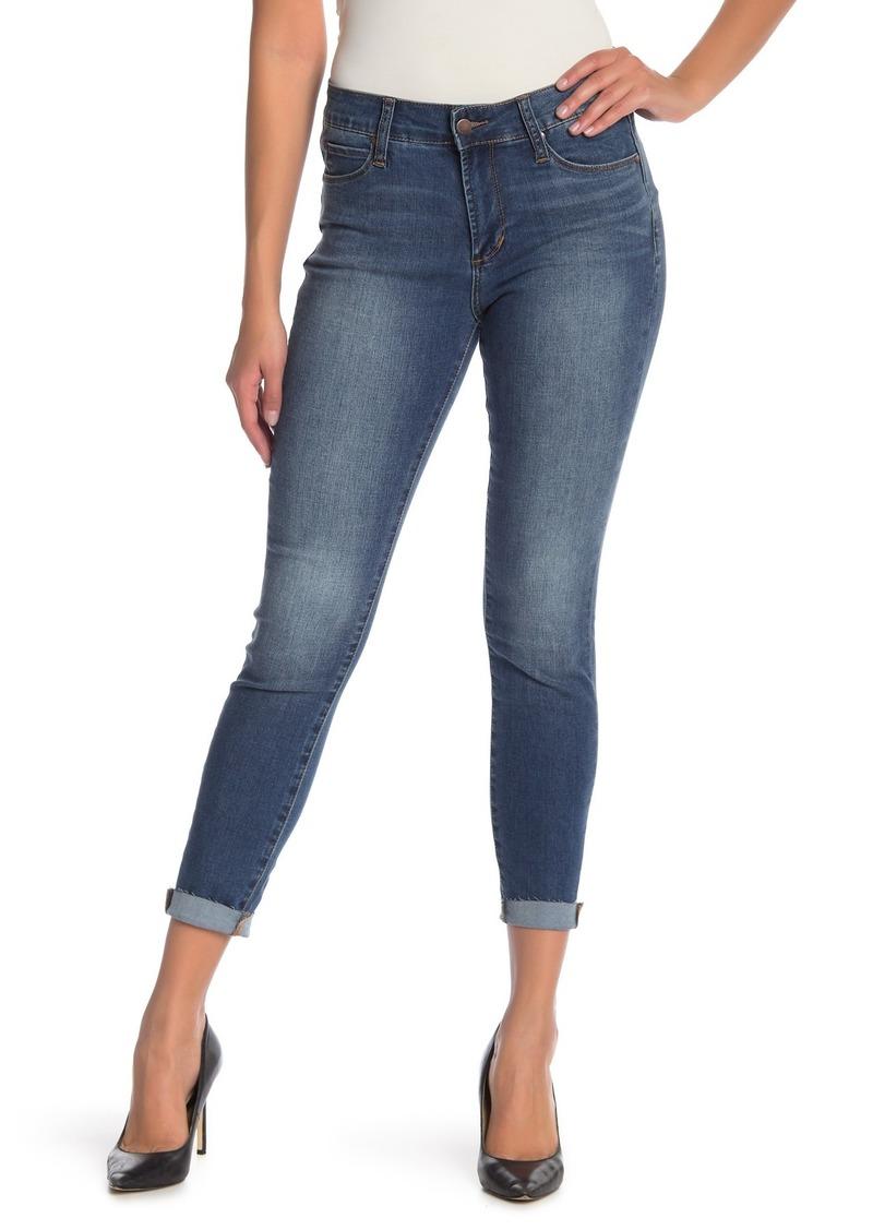 Tahari Raw Edge Ankle Skinny Jeans