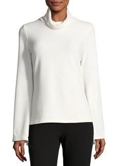 Tahari Ribbed-Knit Bell-Sleeve Turtleneck