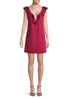 Tahari Ruffled Mini Dress