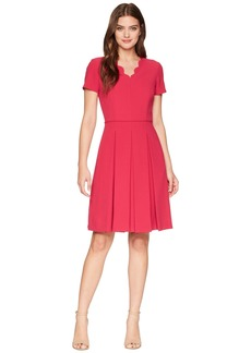 Tahari Scallop Fit and Flare Dress