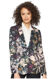 Tahari Scuba One-Button Jacket
