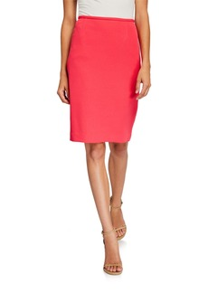 Tahari Scuba Pencil Skirt  Coral