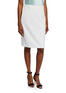 Tahari Scuba Pencil Skirt  Ivory