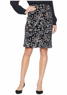Tahari Sequin Embroidered Skirt on Velvet