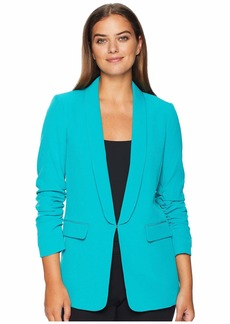 Tahari Shawl Collar Scrunch Sleeve Jacket