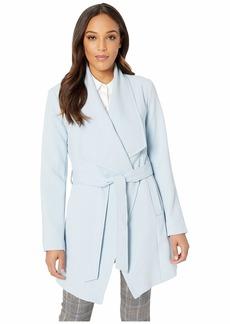 Tahari Shawl Collar Wrap Coat