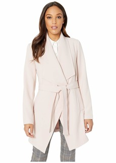 Tahari Shawl Collar Wrap Coat