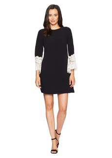 Tahari Sheath Dress with Lace Detail on Sleeve