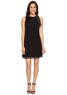 Tahari Shift Dress with Polka Dot Detail