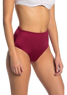 Tahari Shirred High Waist Bikini Bottoms