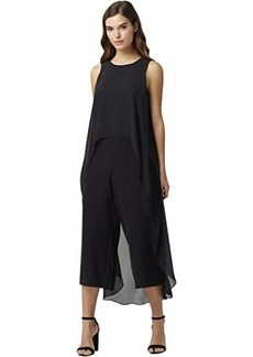 Tahari Short Sleeve Fly Away Jumpsuit