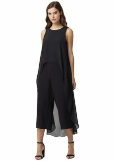 Tahari Short Sleeve Fly Away Jumpsuit