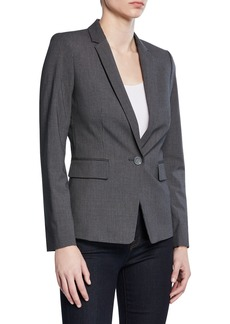 Tahari Single-Button Pinstriped Jacket