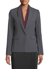 Tahari Single-Button Pinstriped Jacket