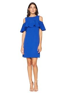 Tahari Sleeveless Dress with Ruffle Detail