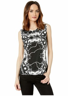 Tahari Sleeveless Printed Knit Top