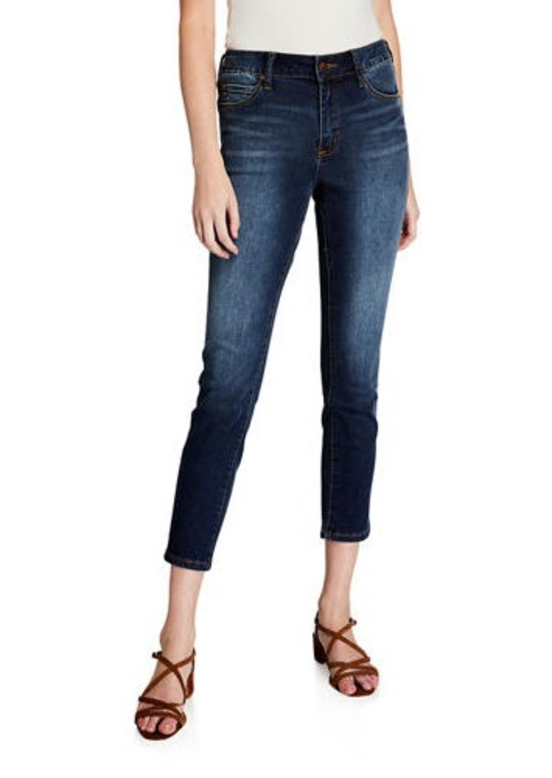 Tahari Slim Cropped Denim Jeans