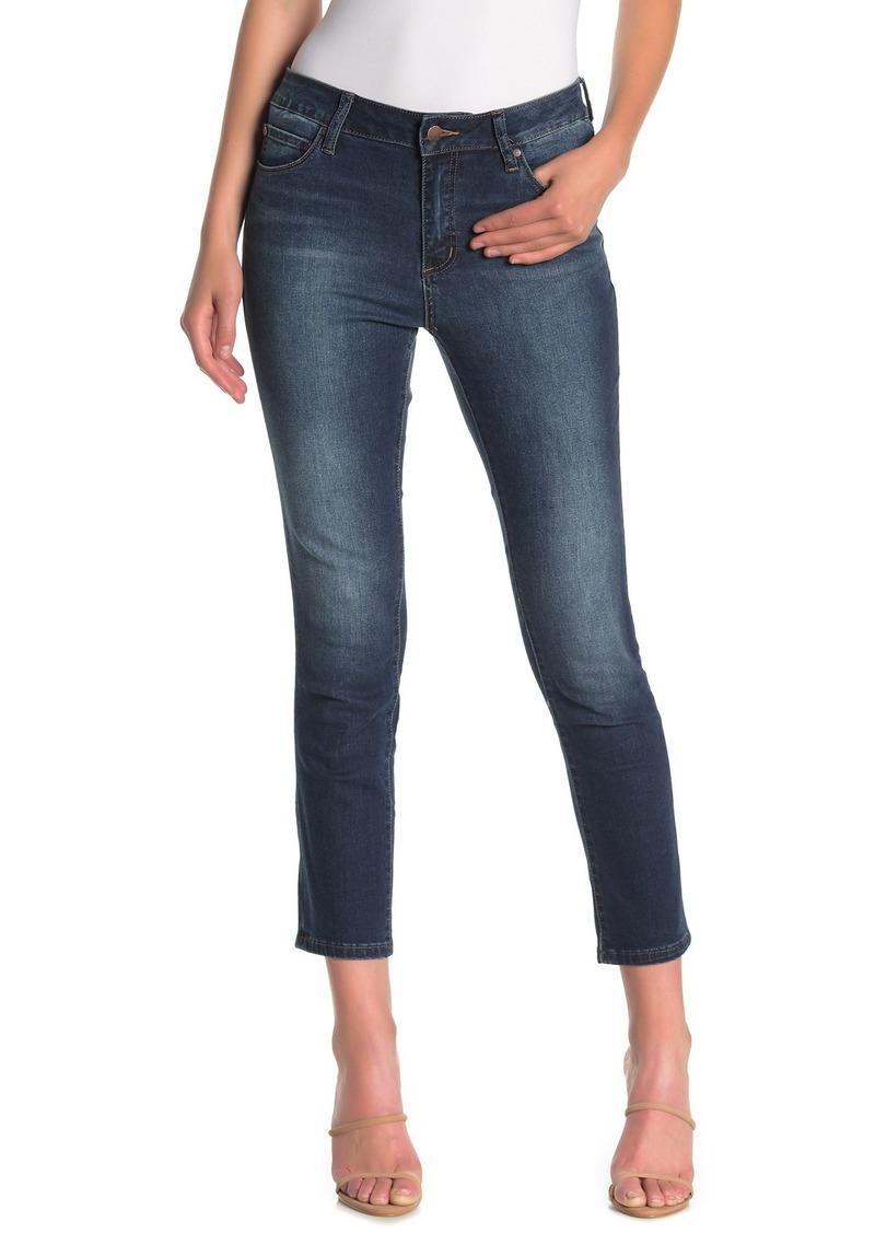 Tahari Slim Straight Crop Jeans