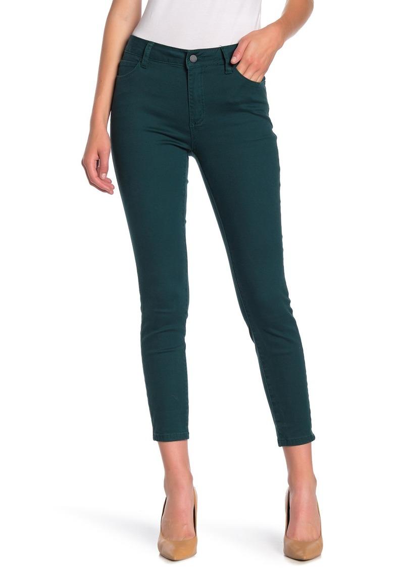 Tahari Solid Mid Rise Skinny Jeans