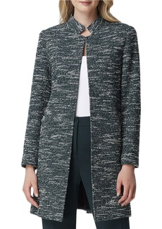 Tahari Stand-Collar Open Long Jacket