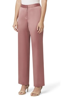 Tahari Stretch Satin Wide-Leg Pants