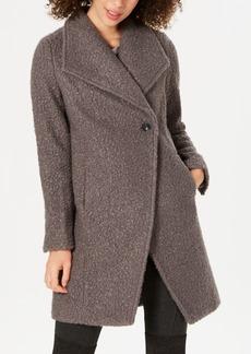 Tahari Sheila Asymmetrical Textured Coat
