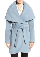 T Tahari Wool Blend Belted Wrap Coat