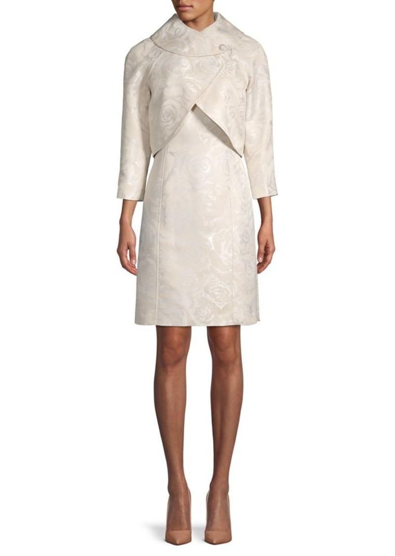 Tahari 2-Piece Floral Jacket & Dress Set