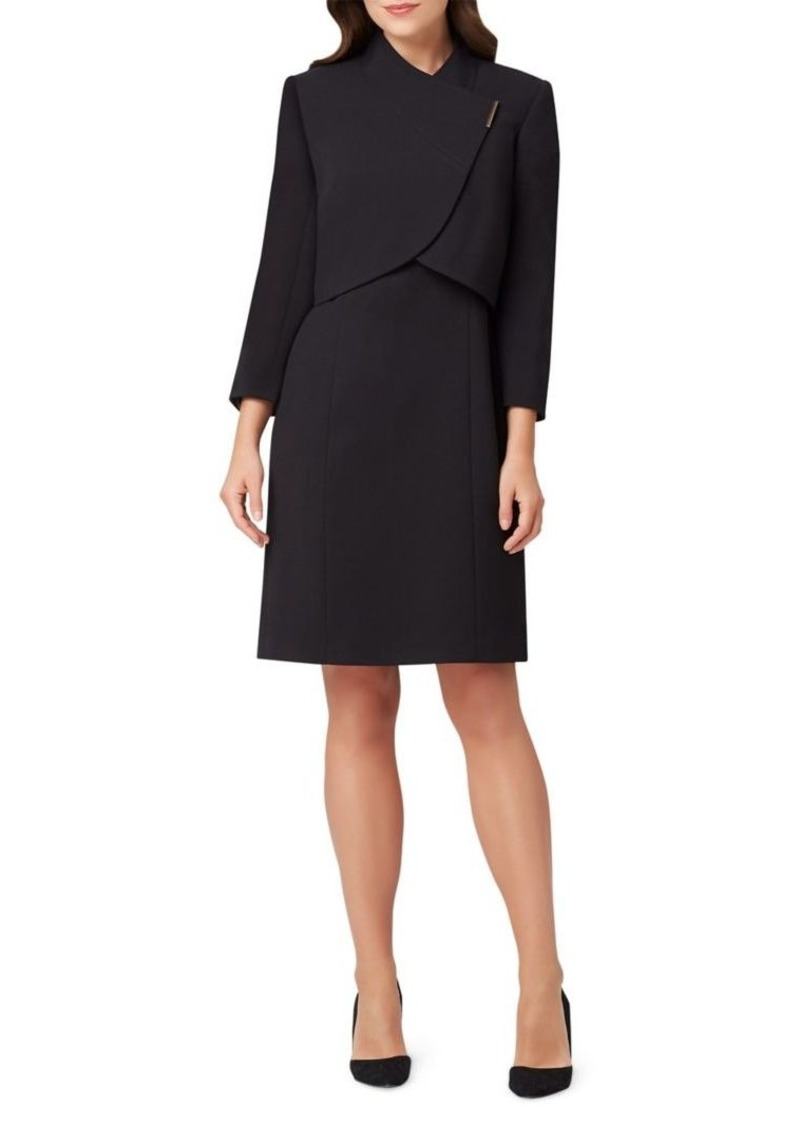 Tahari Arthur S. Levine 2-Piece Wrap Jacket Dress Set