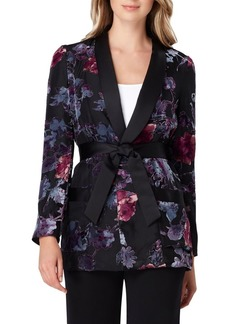 Tahari Arthur S. Levine Belted Floral Jacket