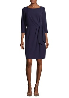Tahari Boatneck Knee-Length Dress