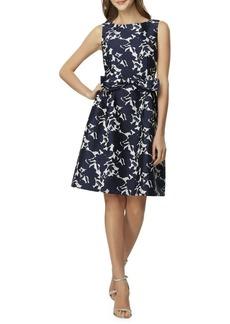 Tahari Arthur S. Levine Bow Floral Fit-&-Flare Dress
