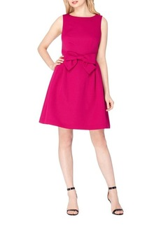 Tahari Arthur S. Levine Bow Waist Fit-and-Flare Dress