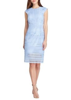 Tahari Arthur S. Levine Cap Sleeve Sheath Dress